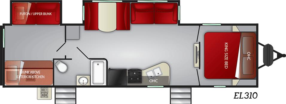 cruiser embrace travel trailer floorplan