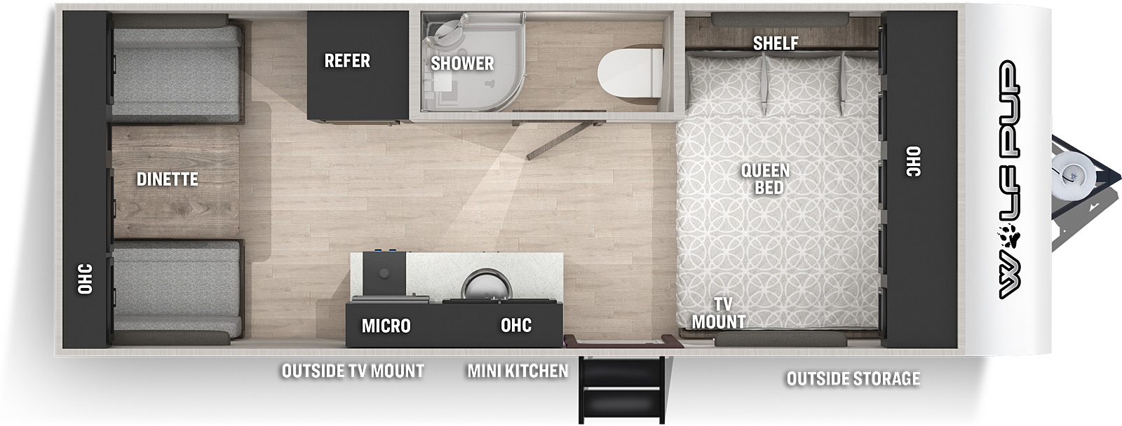 forest river cherokee wolf pup travel trailer floor plan