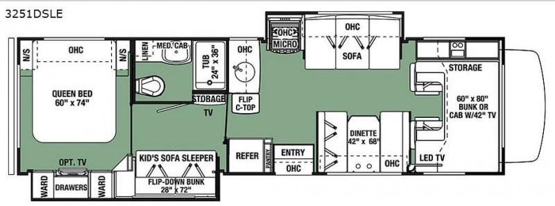 forest river forester floorplan