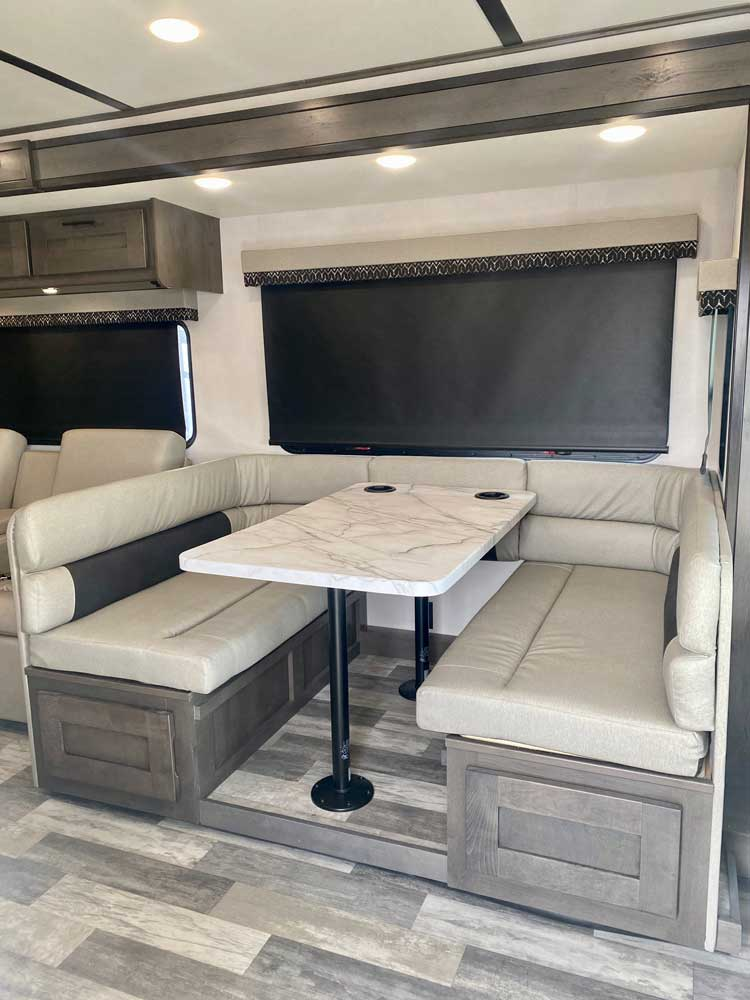 forest river fr3 34ds class a motorhome dinette