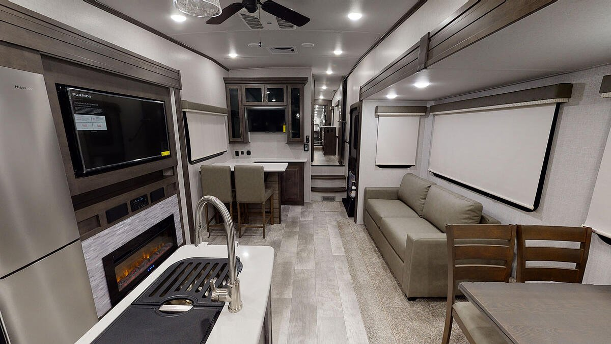 forest river rockwood ultra lite fifth wheel bar and interior