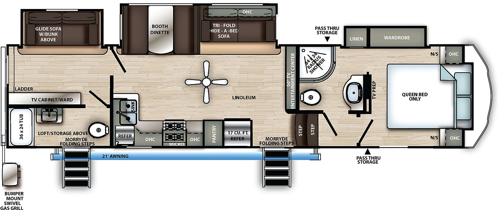 forest river sandpiper c class fifth wheel floorplan
