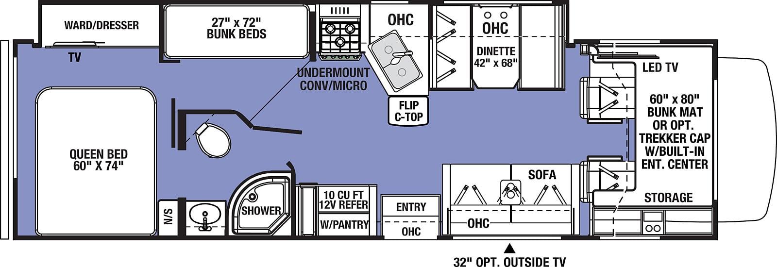 forest river sunseeker class c motorhome floorplan options