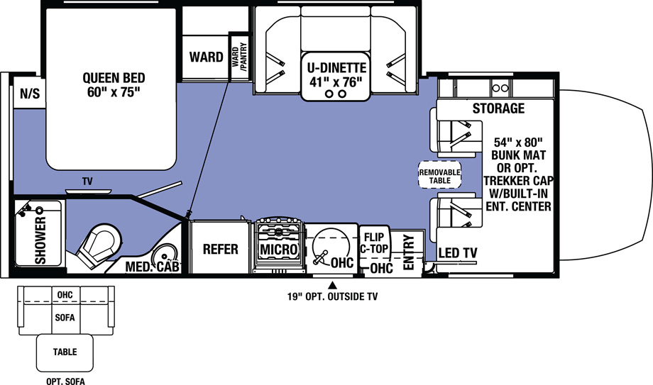 forest river sunseeker floorplan