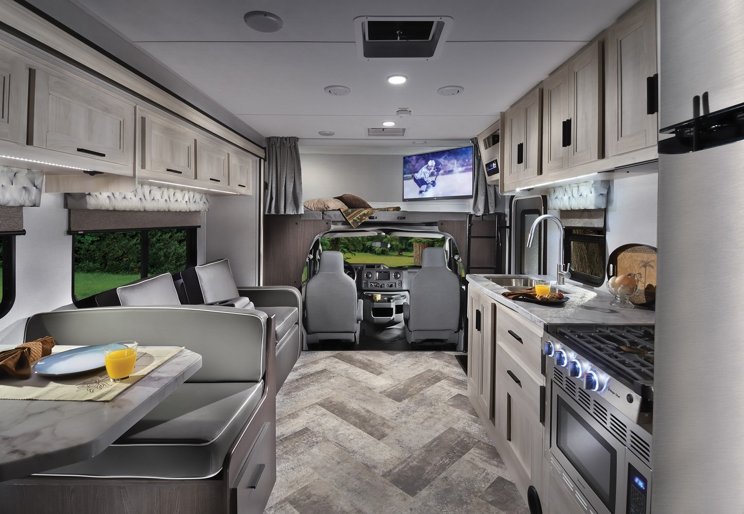 forest river sunseeker le class c motorhome interior