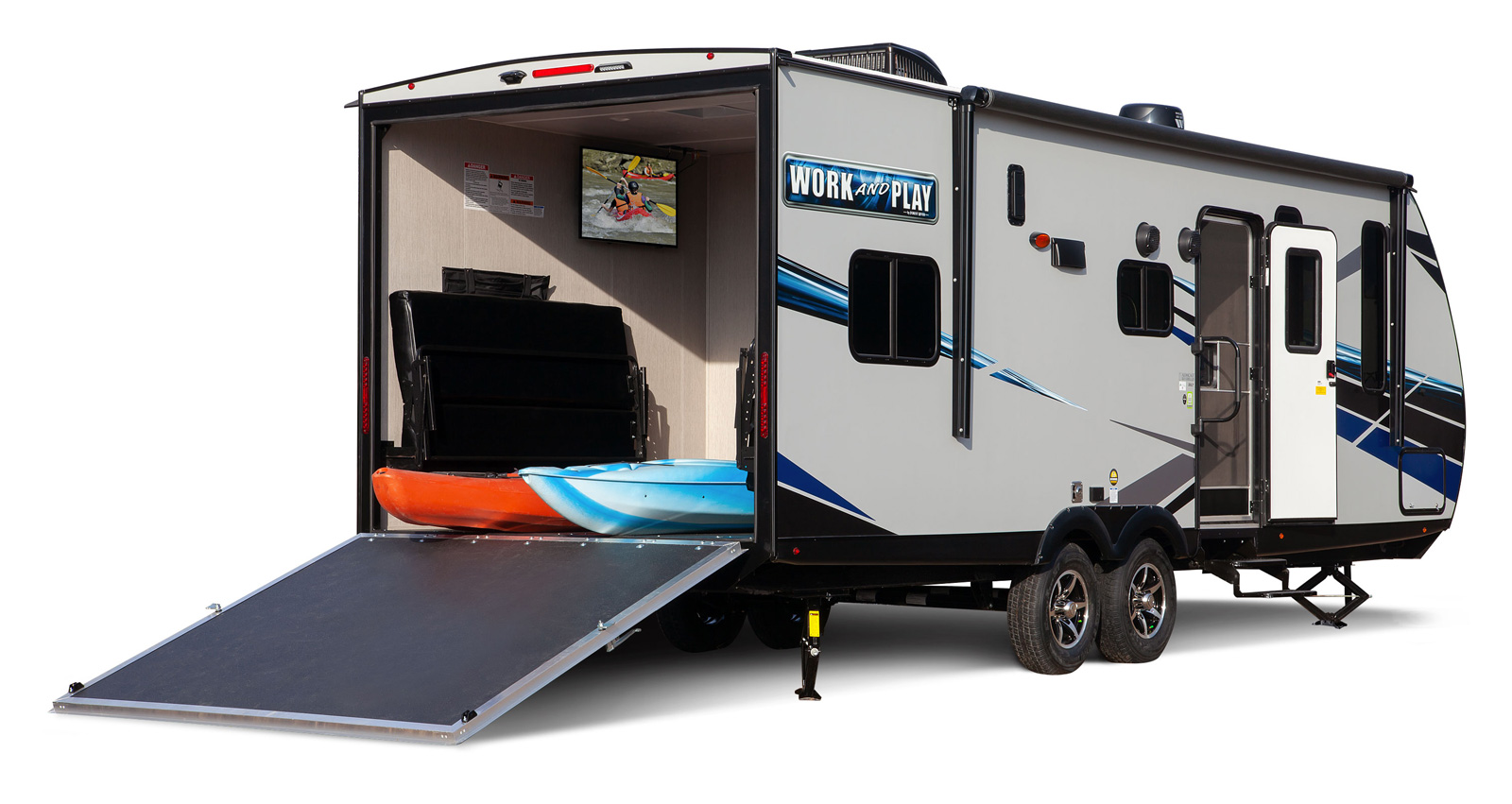 forest river work and play toy hauler exterior