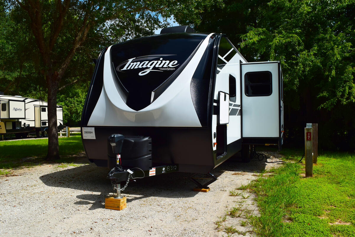 front of Grand design Imagine Travel Trailer