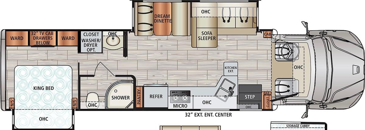 Dynamax DX3 34KD Super C Floorplan