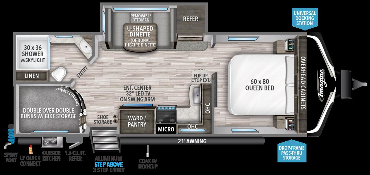 grand design imagine travel trailer floorplan