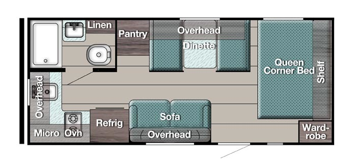 gulf stream conquest super lite travel trailer floor plan