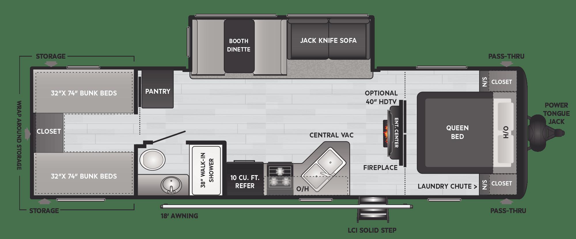 keystone hideout floor plan