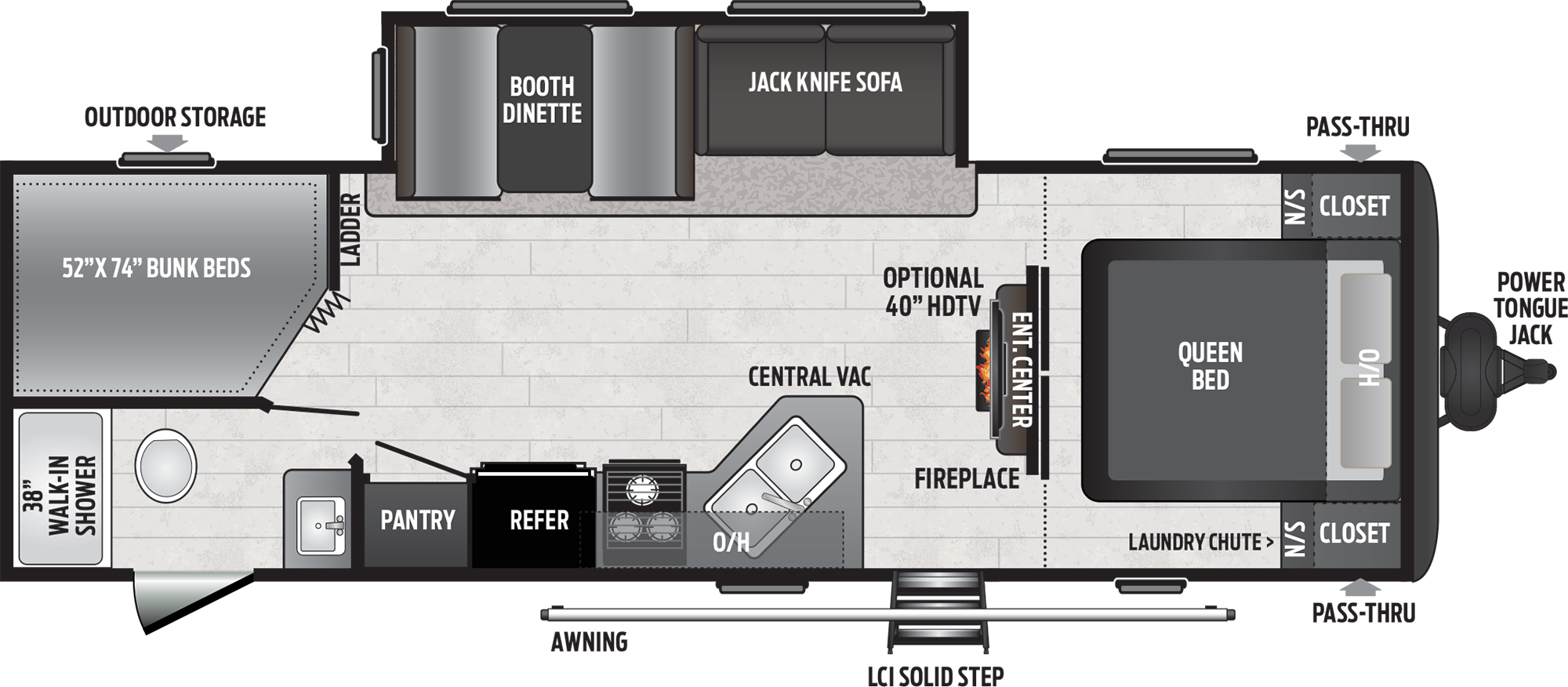 keystone hideout travel trailer floorplan