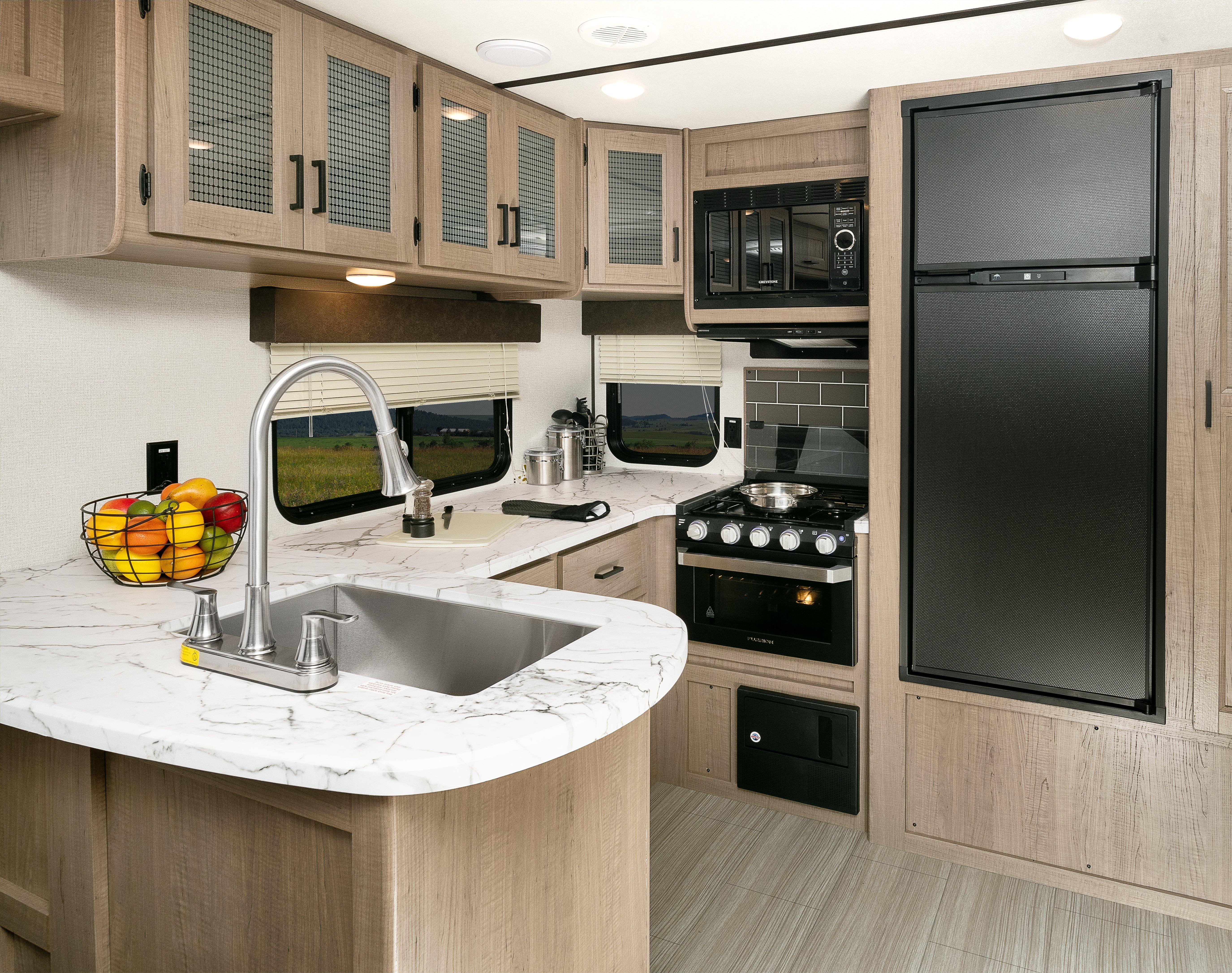 keystone rv hideout fifth wheel kitchen