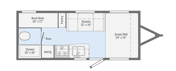 winnebago micro minnie travel trailer floorplan options
