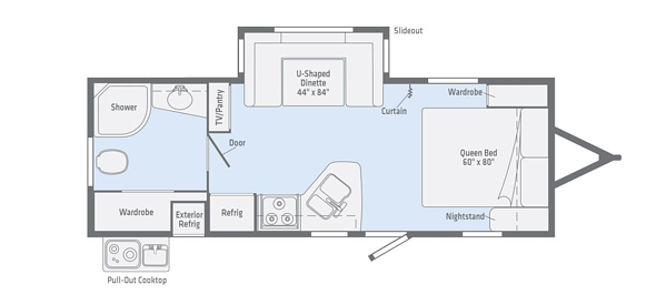 winnebago minnie travel trailer floorplan options