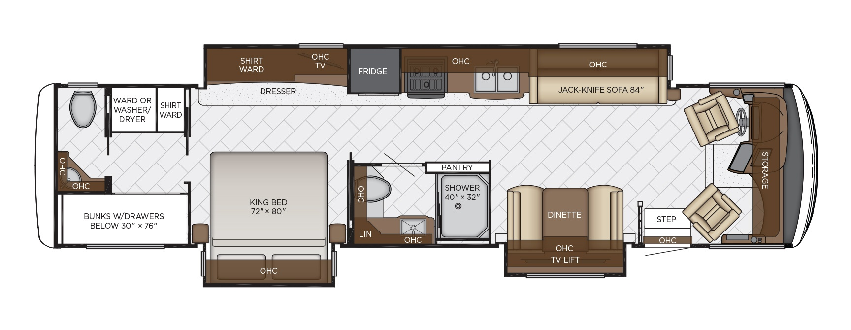 newmar canyon star class a motorhome floorplan options