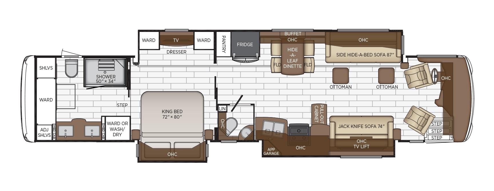 newmar dutch star class a motorhome floorplan options