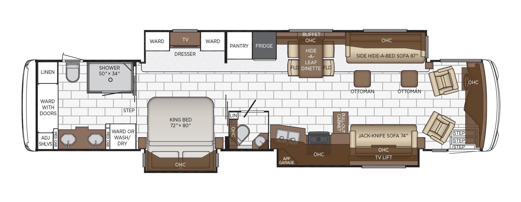newmar ventana class a motorhome floorplan options