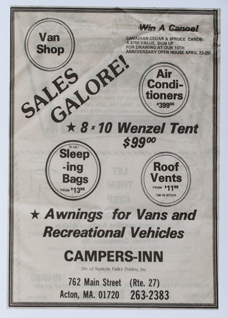 When Campers Inn sold tents