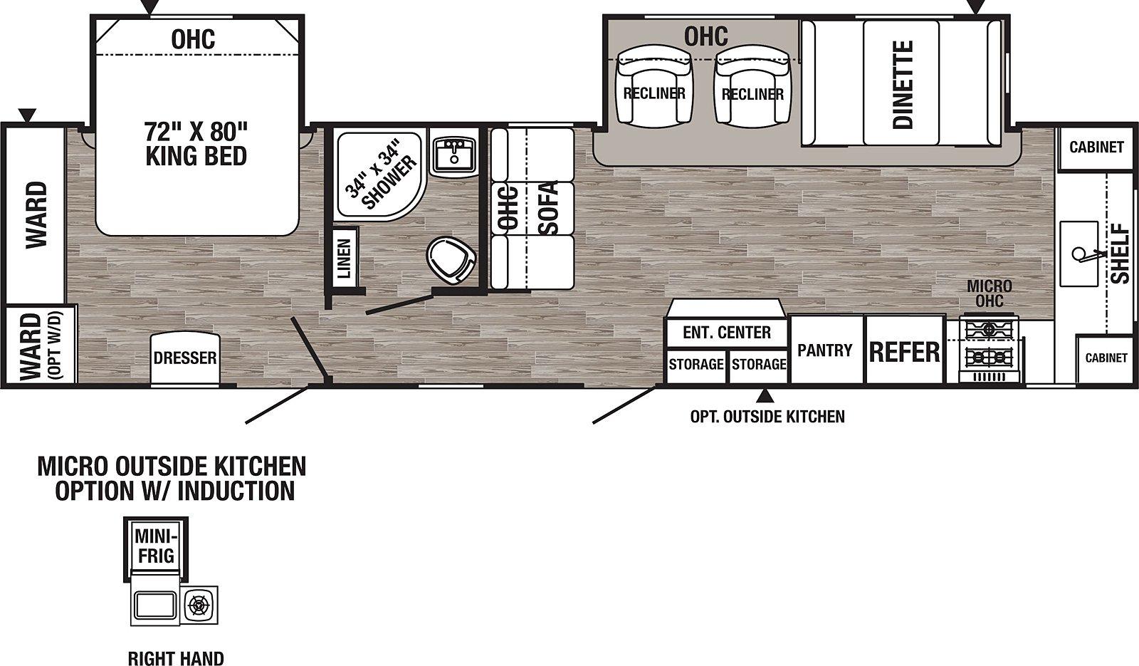 palomino puma 31fkrk floorplan with a rear bedroom