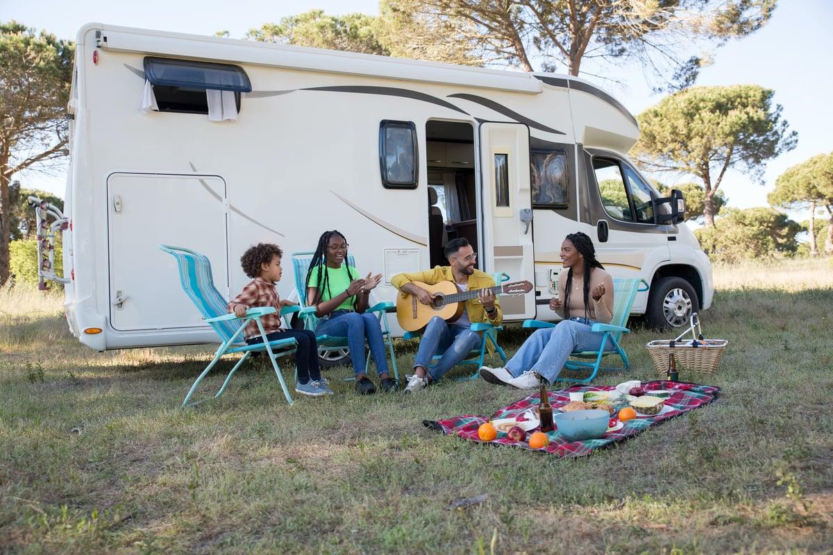 Class C RV Family Camping