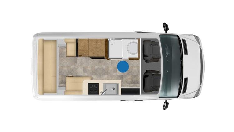 pleasure way ontour class b motorhome floor plan