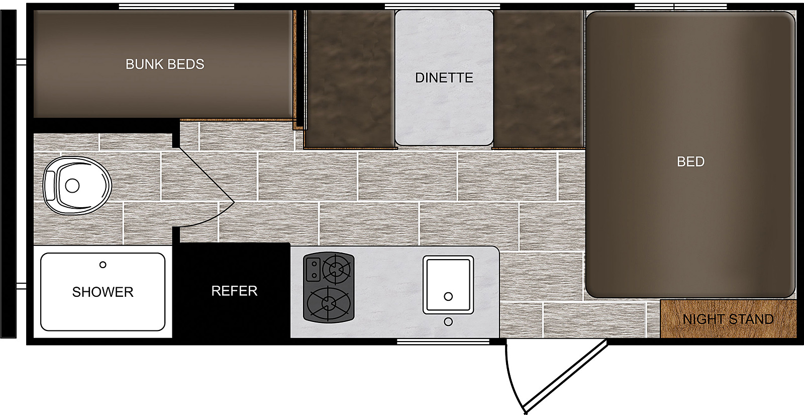 prime time avenger travel trailer floor plan