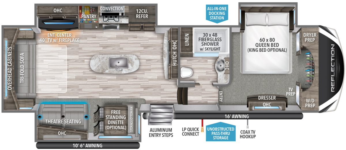grand design reflection fifth wheel floorplan