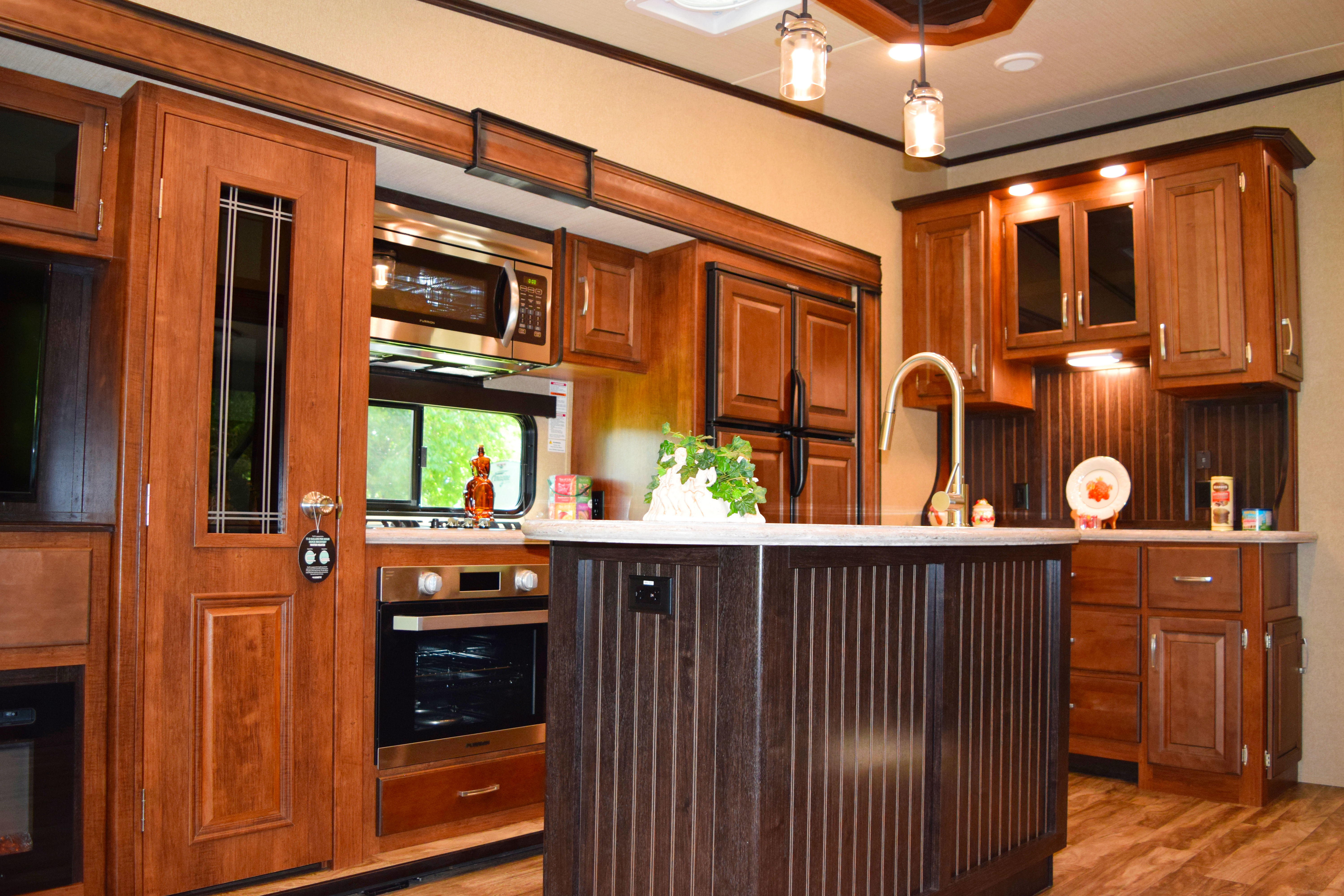 grand design reflection fifth wheel kitchen with center island