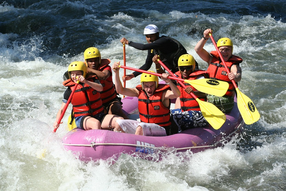 rv campgrounds near white water rafting