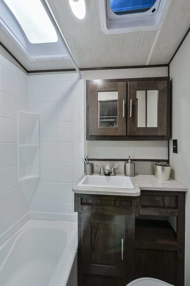 rv with full size shower