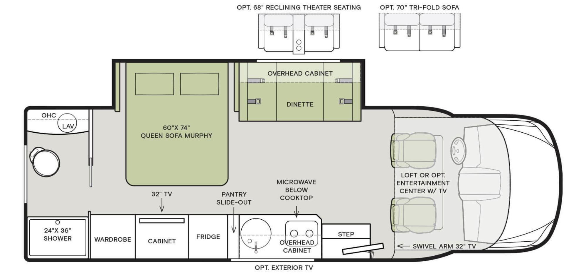 tiffin wayfarer 24rw floorplan options