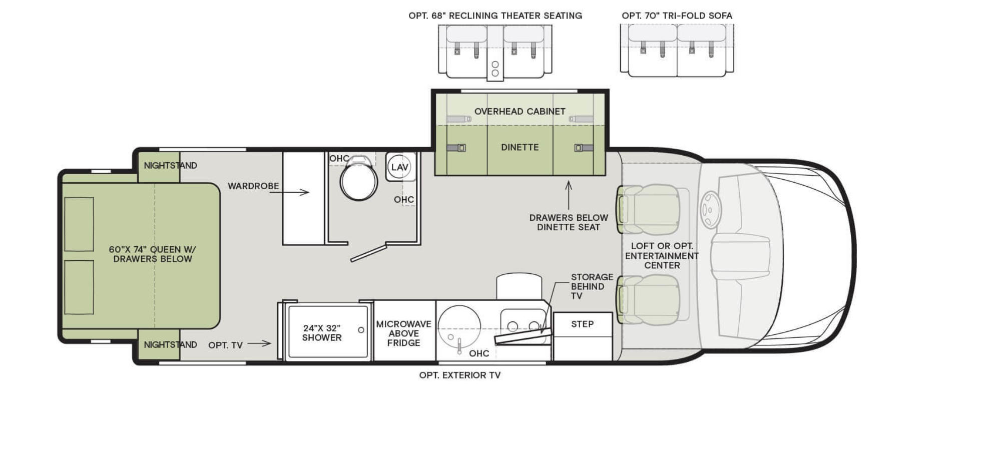 tiffin wayfarer floor plan