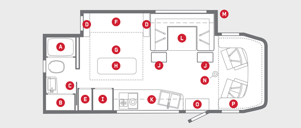 winnebago view class c motorhome floorplan options