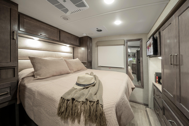 winnebago adventurer class a motorhome bedroom