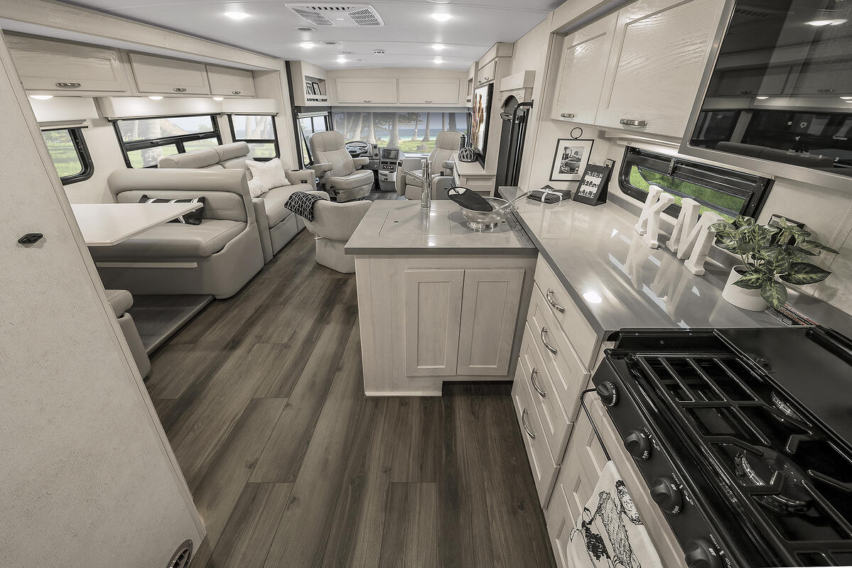 winnebago forza class a motorhome interior living space