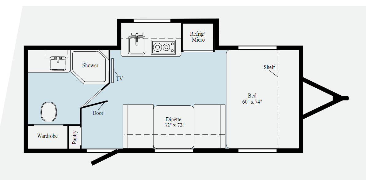 winnebago hike travel trailer floor plan