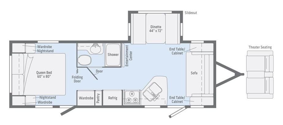 winnebago minnie 2500fl rear bedroom floorplan