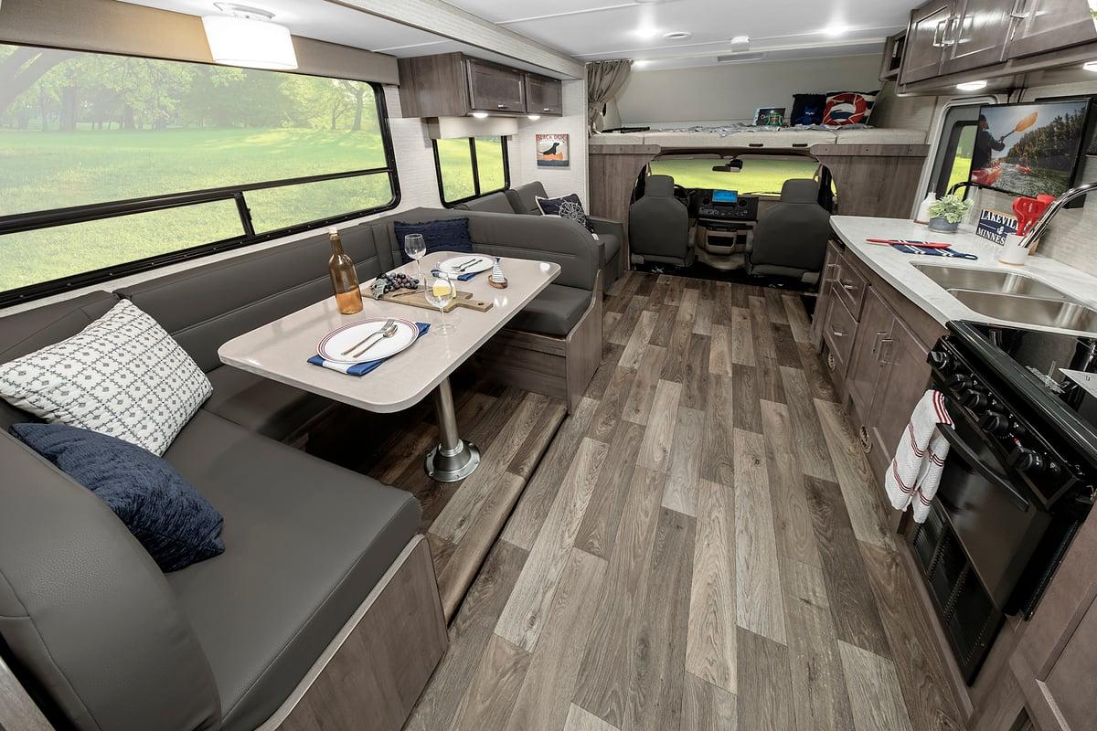 winnebago minnie winnie class c motorhome interior