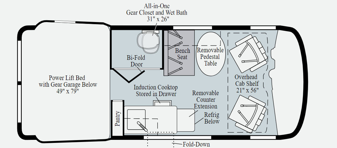 winnebago revel floorplan option