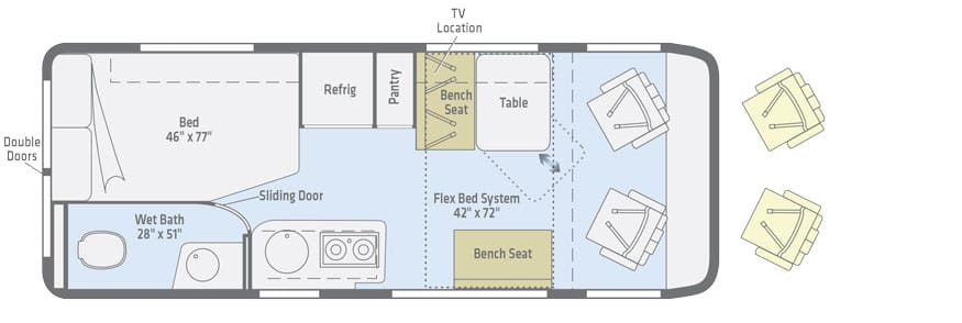 winnebago travato floorplan