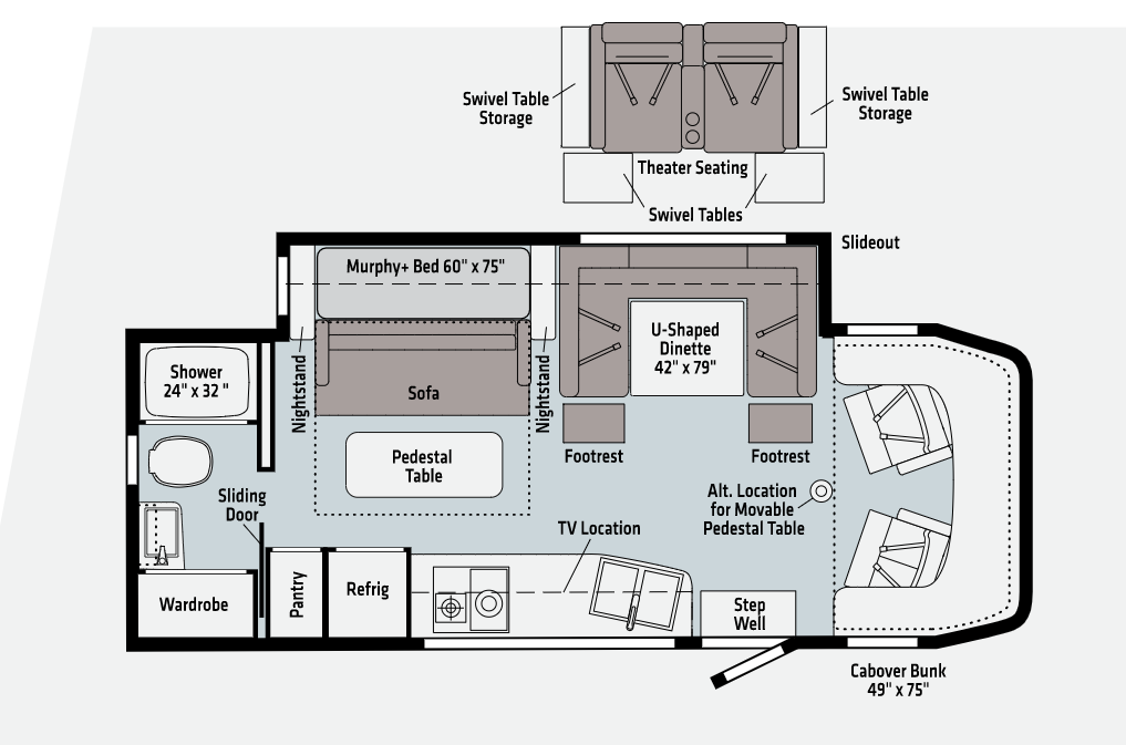 winnebago view floor plan