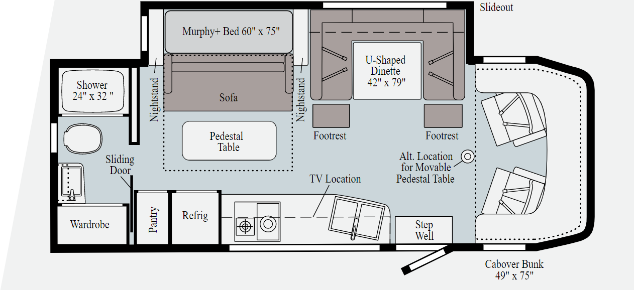 winnebago view floorplan