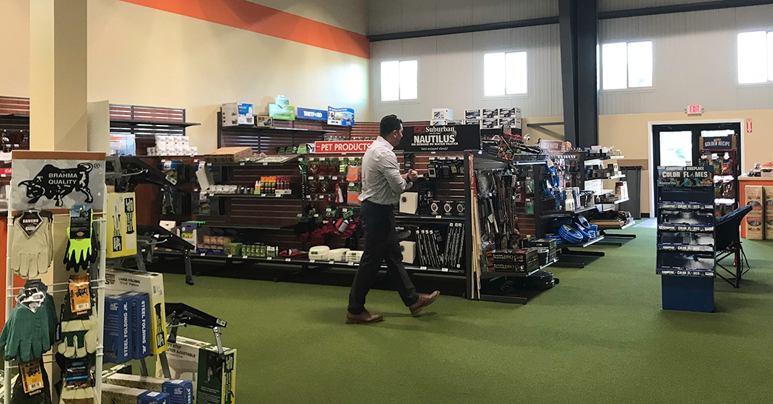 Campers Inn RV COO Ben Hirsch inspects the new parts center at Campers Inn RV of Union, Connecticut